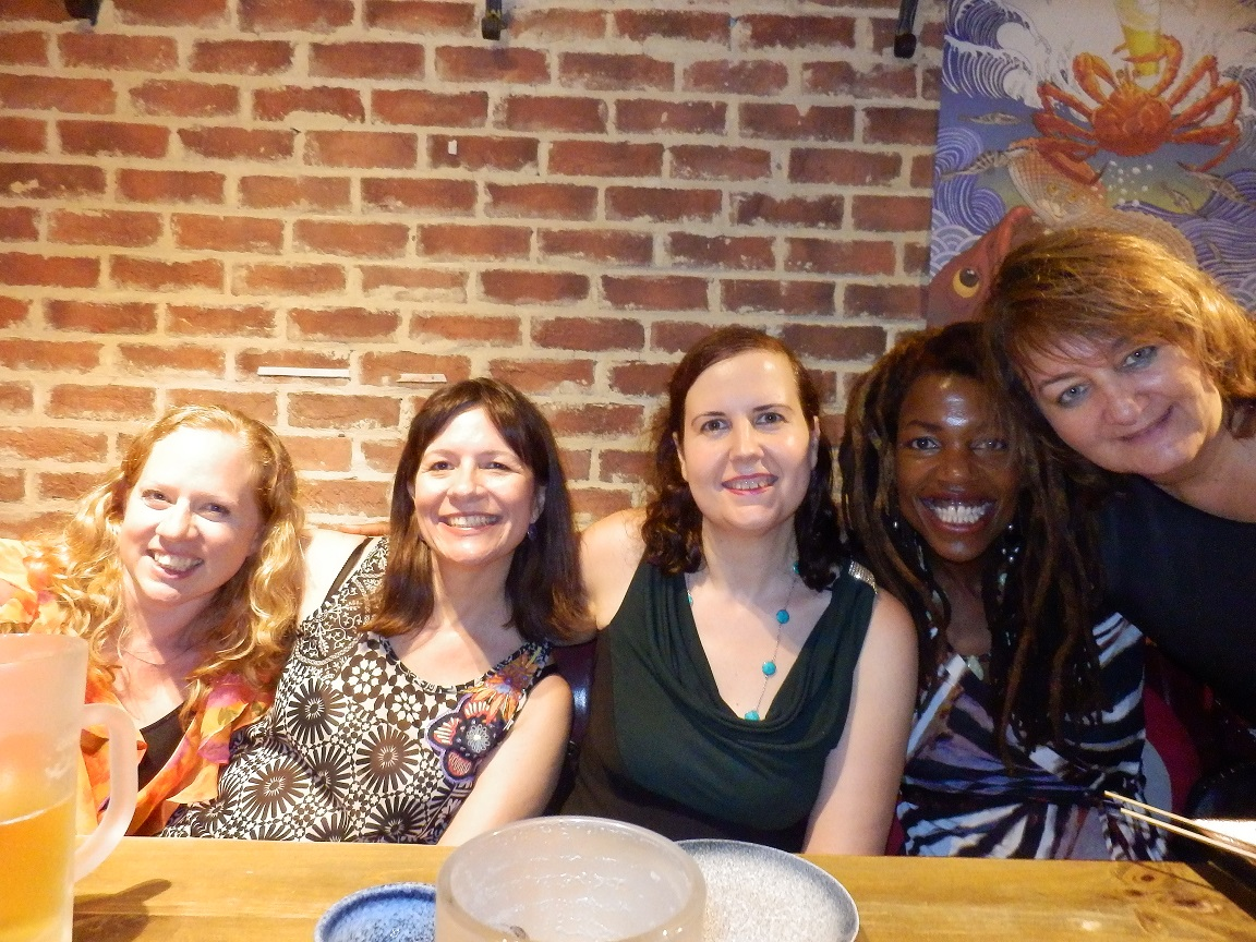 Writers Heidi North-Bailey, Anna Rúbio, Núria Añó, Lisa Teasley and Ángela Pradelli