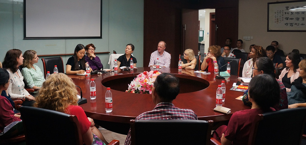 International writers at Fudan University in Shanghai China